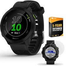 Garmin Forerunner 55 GPS Reloj Correr (Negro) con 2-Pack Paquete de protector de pantalla