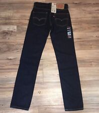 Levi's 511 Skinny Jeans Sz 28x30 Mens Dark Wash Straight Leg NWT New $70 MSRP