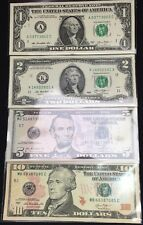 Billet Collection 1 - 2 - 5 - 10 dollars Etats-Unis NEUF