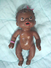 """Hasbro African American Black Baby Alive Doll 12"""" 2009-Molded Hair"""