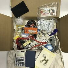 Junk Drawer Lot Calculator Keychains Baby Locks Watch Pedometer Shoe Polish Misc