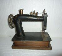 Vintage Hand Made Americana Primitive Folk Art Wood & Metal Sewing Machine