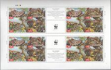 UKRAINE, 2002 WWF Naturschutz Schlangen 502/05 C Kleinbogen **, (17973)
