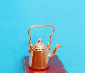 Dollhouse Miniature Metal  Copper Kettle
