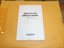 User Manual DEQ-320 Alesis