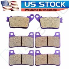 OCPTY Carbon Fiber Brake Pads Fit for 2009 2010 2011 2012 2013 2014 2015 Honda CBR1000RR ABS 2006 2007 2011 2012 2014 Honda CB1000R
