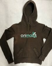 Ladies Animal Hoodie Fleece Top Sweater Brown Size 8 Girls Work Wear