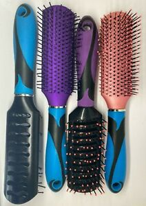 PROFESSIONAL VENTED STYLING MIXED COLOURS HAIR BRUSH 23CM CODE - L (PACK OF 2)