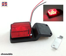 2x LED Rubber Red Position Light Lamps 24V Side Rear Marker Truck Trailer Lorry
