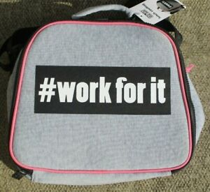Polar Gear Grey Gym Life Lunch Tote Cool Bag # work for it