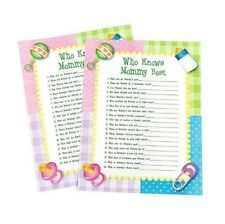 Who Knows Mommy Best Baby Shower Game (24) Sheets Party Fun Favor