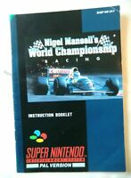 52825 Instruction Booklet - Nigel Mansell's World Championship Racing - Nin