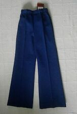 Vintage Jersey Trousers - Age 7-8 Approx - Navy - Elastic Waist -Polyester -New