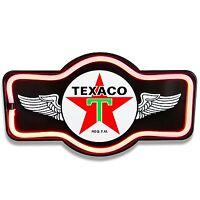 Texaco Black LED Neon Sign Marquee Shape - Bar, Garage, Man Cave