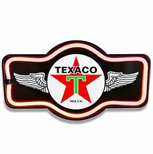 Texaco Black LED Neon Sign Marquee Shape - Bar, Garage, Man Cave