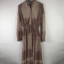 New listing Vtg Hal Ferman pleated accordion dress. Champagne Gold Red Womens Sz M