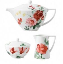 Wedgwood Jasper Conran Floral Teapot Creamer and Sugar Set 3 Piece New with tag