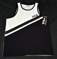 Fila Mens Sports training Tank Top Black white classic