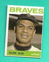 (1) FELIPE ALOU 1964 TOPPS # 65 MILWAUKEE BRAVES NM+ CARD (V0724)