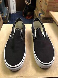 Vans Slip-On Black 500714 Men 8.5/Women 10 NWOT
