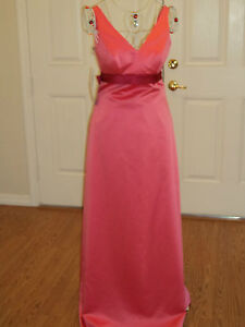 Alfred Angelo 7097 Satin Organza Bridesmaid Prom Formal Size 6