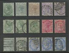 MALTA QV 1885-90 MINT + USED RANGE...15 stamps