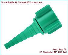 Schlauchtülle f. Sauerstoff-Konzentrator / Anschluss f. Konzi (US-Gewinde)