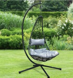 New York Hanging Egg Chair with Cushion. BRAND NEW & BOXED