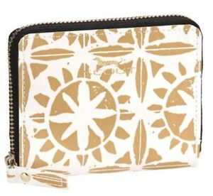 SCOUT Bags Pocket Change Wallet Card Holder Desert Rose Pattern Gold & White NWT