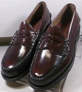 249003 ES50 Men's Shoes Size 6.5 E Burgundy Leather Slip On Johnston & Murphy