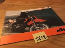 KTM 2005 640 LC4 supermoto 660 625 SMC 640 Duke catalogue moto prospectus