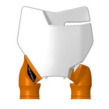 Acerbis Raptor Front Number Plate White/Orange For KTM 125-450 SX SXF XC 16-17