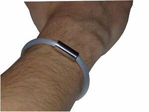 Germanium & Titanium Power Energie Armband, Sportarmband Weiß von Biomagnet24