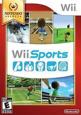 Wii Sports - Nintendo Selects [Nintendo Wii, Sports Golf Tennis Baseball Boxing]