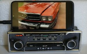 BECKER MEXICO Chrome Radio Mercedes W108 W111 W113 R107 AUX-IN + Optional BT