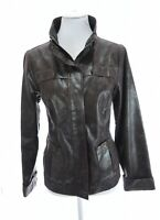 Zenergy Chicos 0 Women Sz S 4 Utility Faux Leather Snakeskin Reptile Gray Jacket