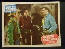 Johnny Mack Brown Western Renegades 1949 Lobby Card #2 fine Western