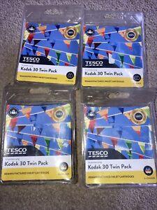 Kodak 30 Twin Pack Tesco Remanufactured 2 X Black 2 X Colour
