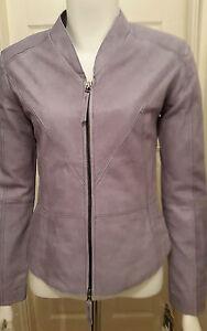 NEW Zorika Leather Jacket - Steel - Size 36 by Cigno Nero