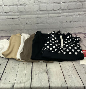 Lot of 5 Lululemon LINQ Los Angeles Tank Tops Origami Deep V Size 4 Small NEW