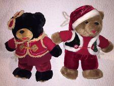 """2006 Snowflake Teddy 14"""" Plush  Boy & Girl Christmas Bear Christmas DAN DEE"""