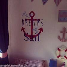 Let Your Dreams Set Sail Nautical Sailor Vinyl Wall Art Decal