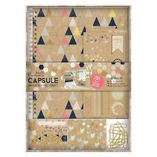 Papermania geométrica de papel Kraft cápsula Colección Scrapbook Set