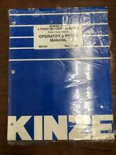 Kinze Model 3140 3 Point Mounted Planter Operator and Parts Manual 11/06