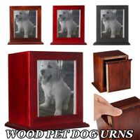 Handmade Pet Ash Urns Wood Funeral Cremation For Dog Cat Small Memorial Holder