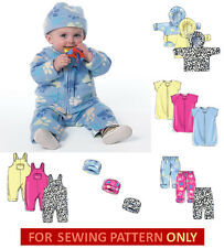 SEWING PATTERN! MAKE BABY CLOTHES! JACKET~PANTS~OVERALLS~BUNTING~HAT! NEWBORN~XL