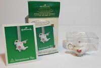 2003 Afternoon Tea Hallmark Keepsake Ornament Miniature First in the Series