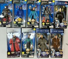 """Playmates Star Trek The Next Generation TNG 9"""" Sealed Action Figures Lot Of 9"""