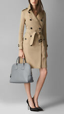 NEW AUTHENTIC $1095 BURBERRY  BOWLER BAG CLUTCH CARDS DUSTER LINED LOGO CHECK