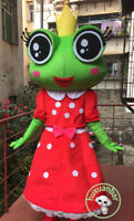 2019 New Frog Cartoon Mascot Costume Cosplay Adult Fancy Dress Outfit Suit Gift